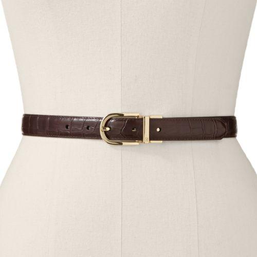 Chaps Faux-Crocodile Reversible Belt