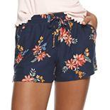 Juniors' Mudd® Peached Tie Waist Shorts