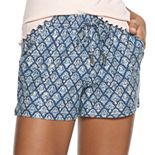 Juniors' Mudd® Peached Tie Waist Shorts