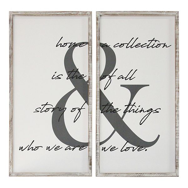 Stratton Home Decor 2 Piece Home Is The Story Wall Art