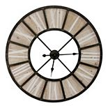 "Stratton Home Decor Oversized 31.50"" Farmhouse Jackson Wall Clock"
