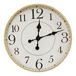 "Stratton Home Decor 14"" Cooper Modern Wall Clock"