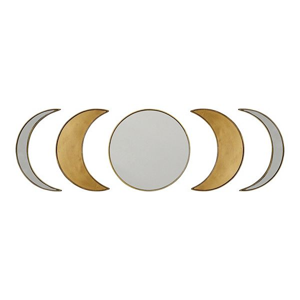 Stratton Home Decor Moon Phase Wall Mirror