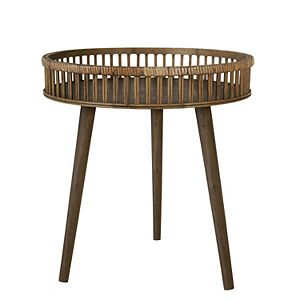 Stratton Home Decor Rattan Side Table