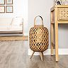 Stratton Home Decor Tulum Woven Lantern Stand
