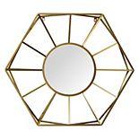 """Stratton Home Decor 32.50"""" Hallie Metal Gold Mirror"""