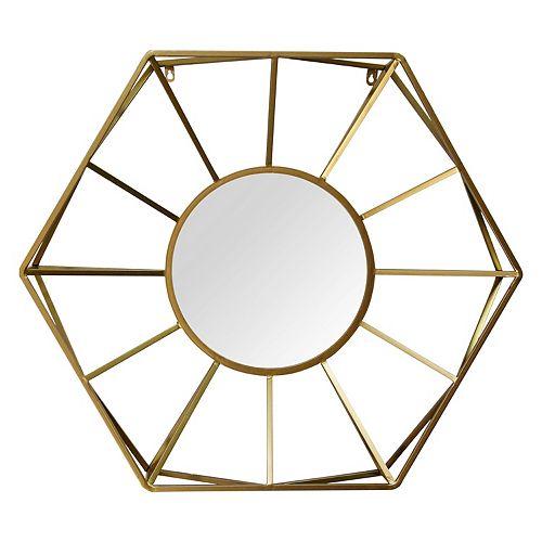 Stratton Home Decor 32 50 Hallie Metal Gold Mirror