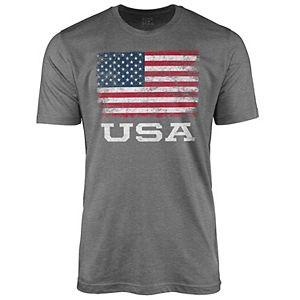 Men's American Flag Graphic Tee