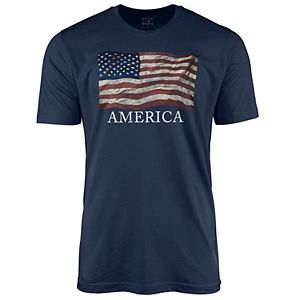 Men's American Flag Graphic Tee