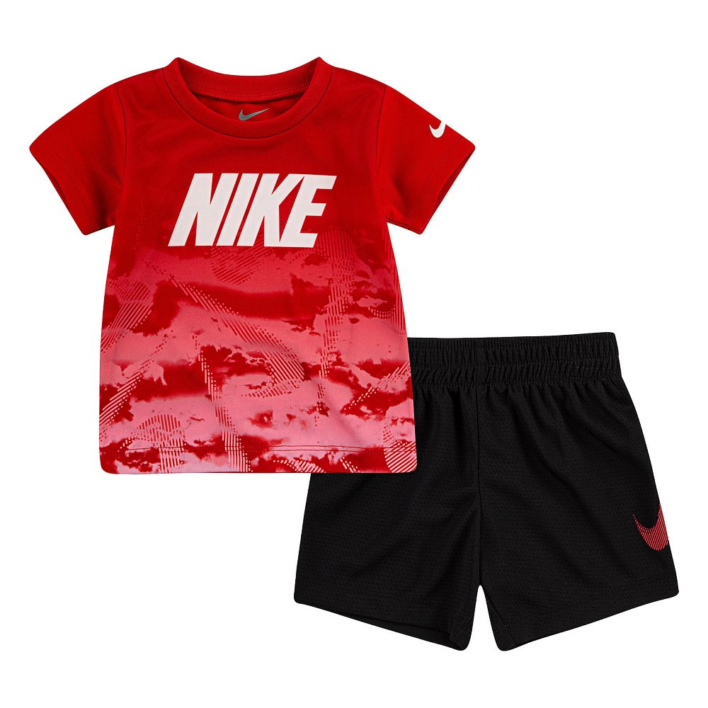 Toddler Boy Nike Abstract Graphic Tee & Shorts Set