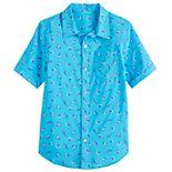 Boys 8-20 Shark Print Button-Up Shirt