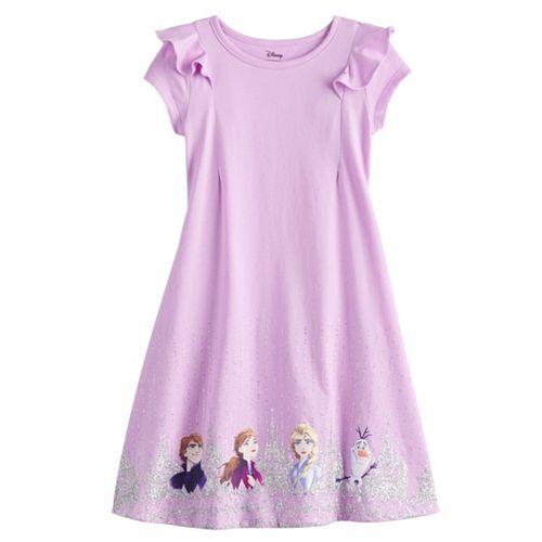 Disney's Frozen Girls 4-12 Ruffled Dress by Jumping Beans®