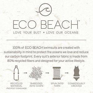 Women's ECO BEACH Colorblock Cropped Rash Guard