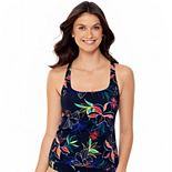 Women's Eco Beach Floral Squareneck Tankini Top