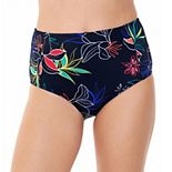 Women's Eco Beach Floral High-Waisted Swim Bottoms
