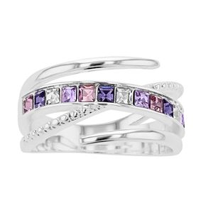 Brilliance Bypass Ring with Swarovski Crystals