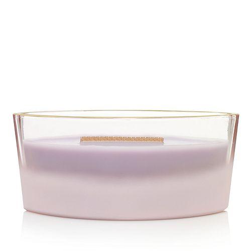 WoodWick Lavender Spa Décor Glass Ellipse Floral Collection Candle