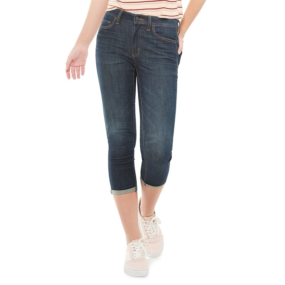 Juniors' SO® 25-Inch Mid Rise Cropped Jeggings