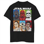 Boys 8-20 Star Wars The Rise of Skywalker Character Grid Graphic Tee