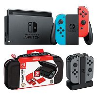 Nintendo Switch Gaming Console Bundle with Carrying Case & Controller Charging Dock + $105 Kohls Cash
