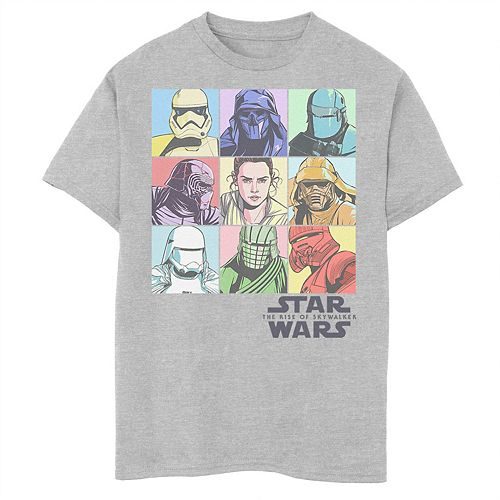 Boys 8-20 Star Wars The Rise of Skywalker Pastel Character Box Graphic Tee
