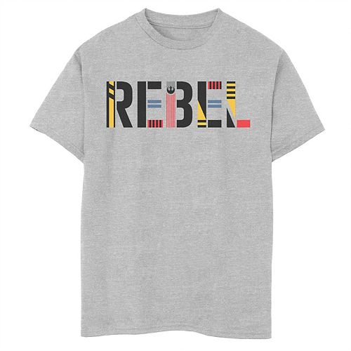 Boys 8-20 Star Wars The Rise of Skywalker Rebel Text Graphic Tee