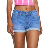 Juniors' SO® Denim Shortie Shorts