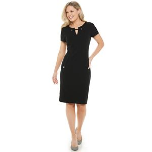 Women's Chaps Splitneck Sheath Dress