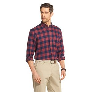 Big & Tall IZOD Sportswear Premium Essentials Stretch Plaid Button-Down Shirt