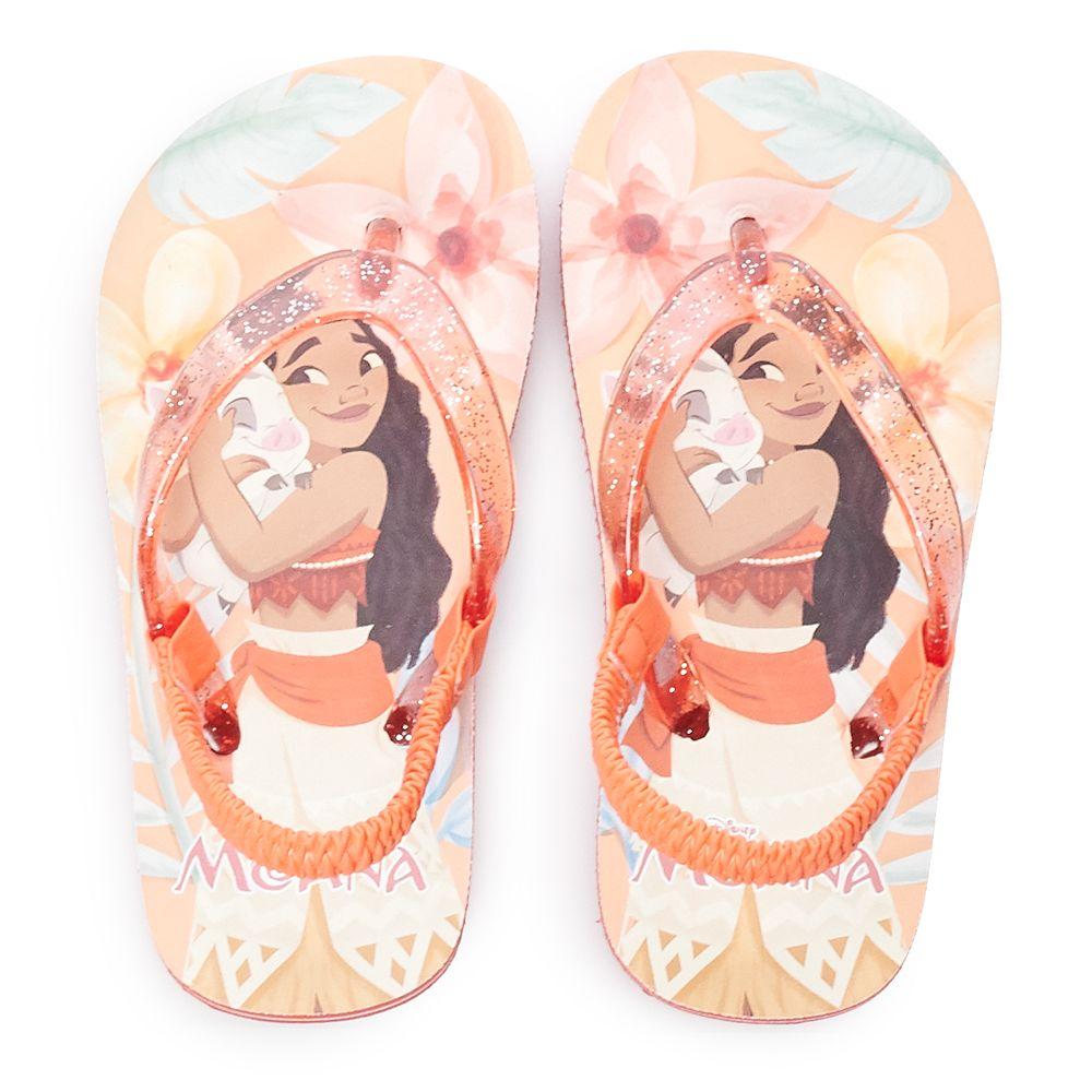 Disney's Moana Toddler Girl Glitter Sandals