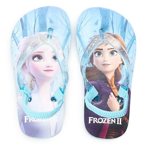 NEW Girls Frozen Flip Flops Large 2-3 Sandals Disney Princess Elsa Anna Shoes
