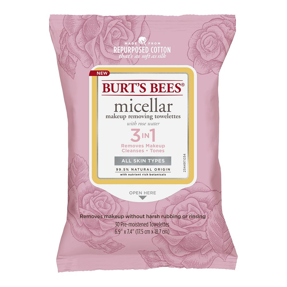 Burt's Bees Micellar Cleansing Towelettes With Rose Water