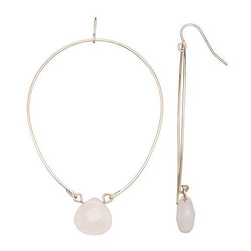 SONOMA Goods for Life® Rose Quartz Hoop Drop Earrings