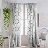 Peri Chenille Lattice Window Curtain