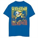 Boys 8-20 Despicable Me Minions Retro Beach Ready For The Weekend Graphic Tee