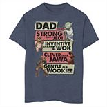 Boys 8-20 Star Wars Dad You Are Strong Like A Jedi Graphic Tee