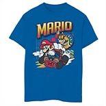 Boys 8-20 Nintendo Mario Kart Bowser Mario Racing Graphic Tee