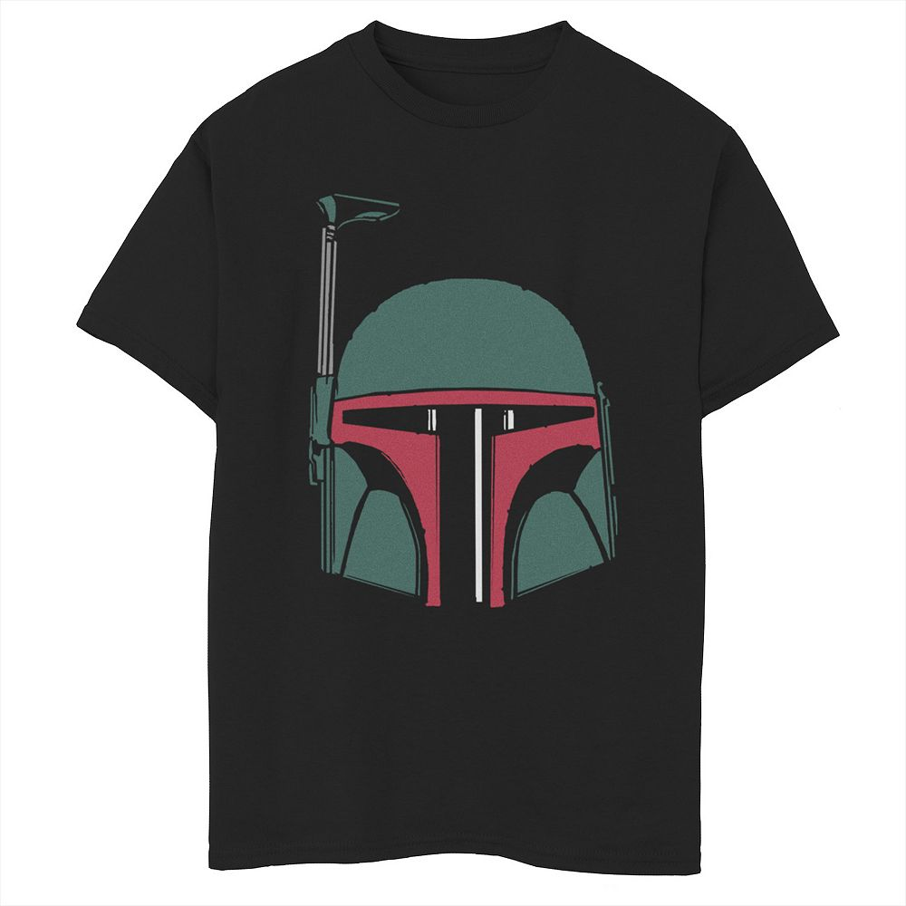 Boys 8-20 Star Wars Boba Fett Simple Helmet Graphic Tee