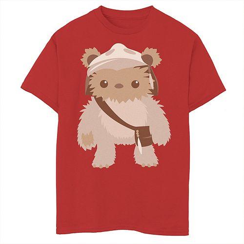 Boys 8-20 Star Wars Lumat Ewok Cute Cartoon Warrior Graphic Tee