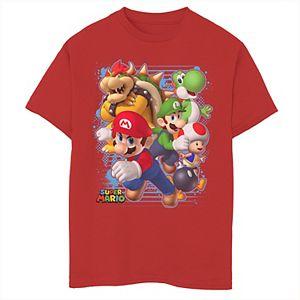 Boys 8-20 Nintendo Super Mario Luigi Bowser Paint Graphic Tee