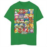 Boys 8-20 Nintendo Super Mario Bros U Deluxe Character Selection Panel Grid Graphic Tee