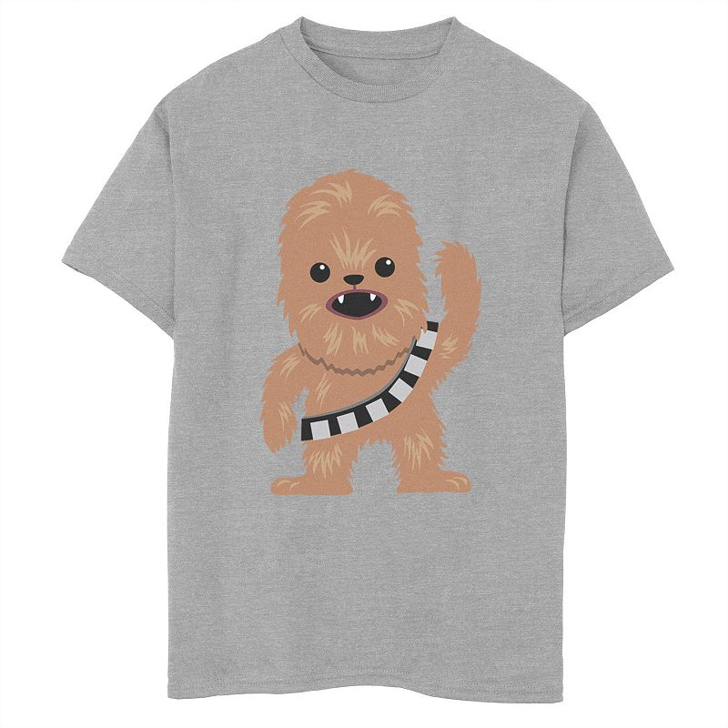 Boys 8-20 Star Wars Chewbacca Cutie Cartoon Chewie Graphic Tee, Boy's, Size: Large, Med Grey
