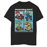Boys 8-20 Nintendo Mario Kart Mario Luigi Yoshi Bowser Group Graphic Tee