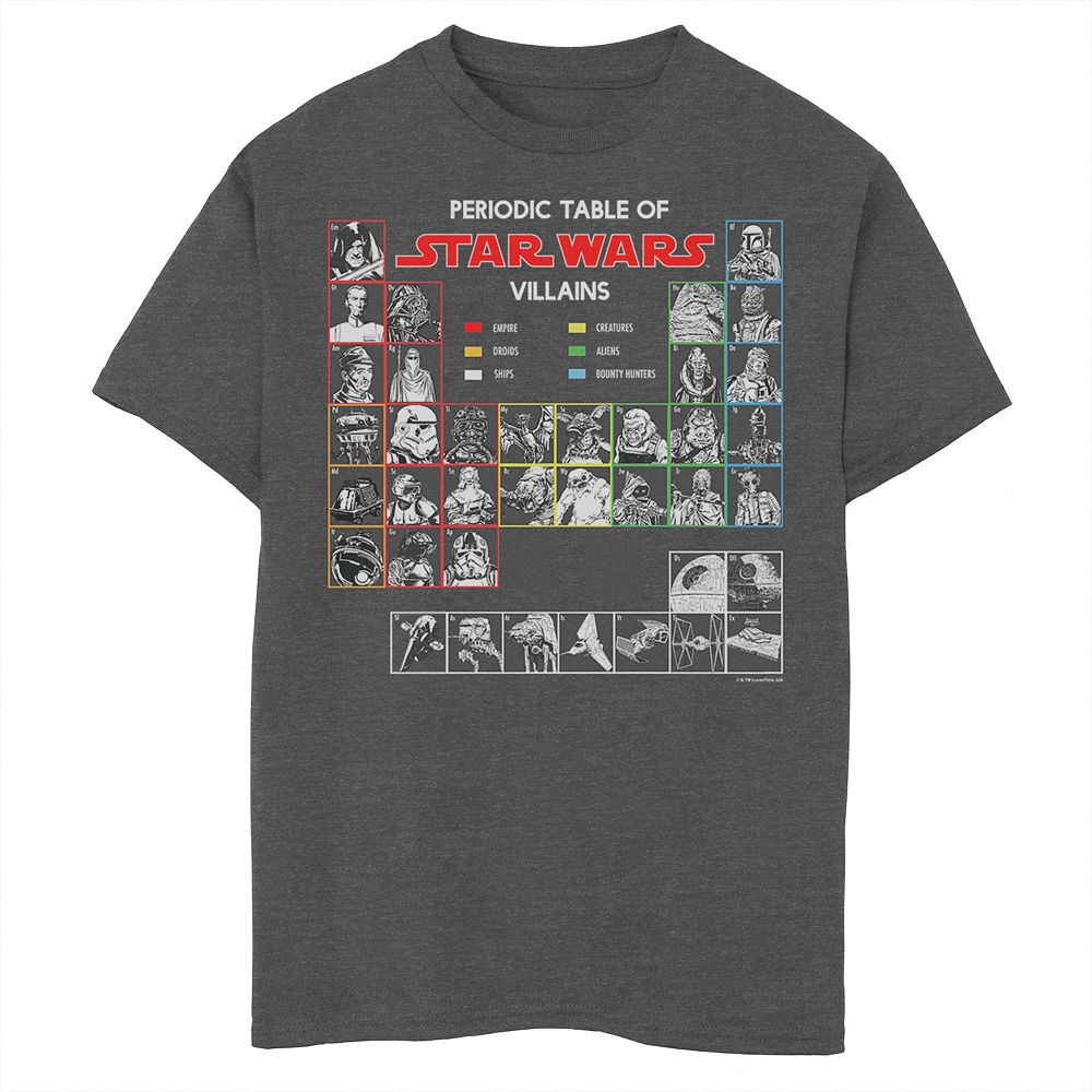 Boys 8-20 Star Wars Periodic Table Of Villains Graphic Tee