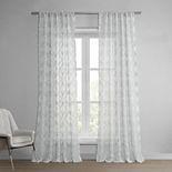 EFF 1-panel Capella Patterned Linen Sheer Window Curtain
