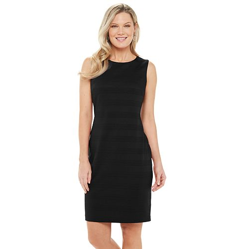 Women's Chaps Sleeveless Textured Knit Sheath Dress