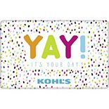 """Yay!"" Birthday Gift Card"