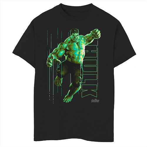 Boys 8-20 Marvel Infinity War Incredible Hulk Jump Smash Graphic Tee