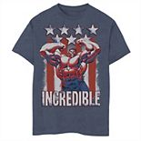 Boys 8-20 Marvel Hulk Incredible Stars and Stripes Graphic Tee