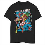 Boys 8-20 Marvel Heros My Dad My Hero Father's Day Graphic Tee